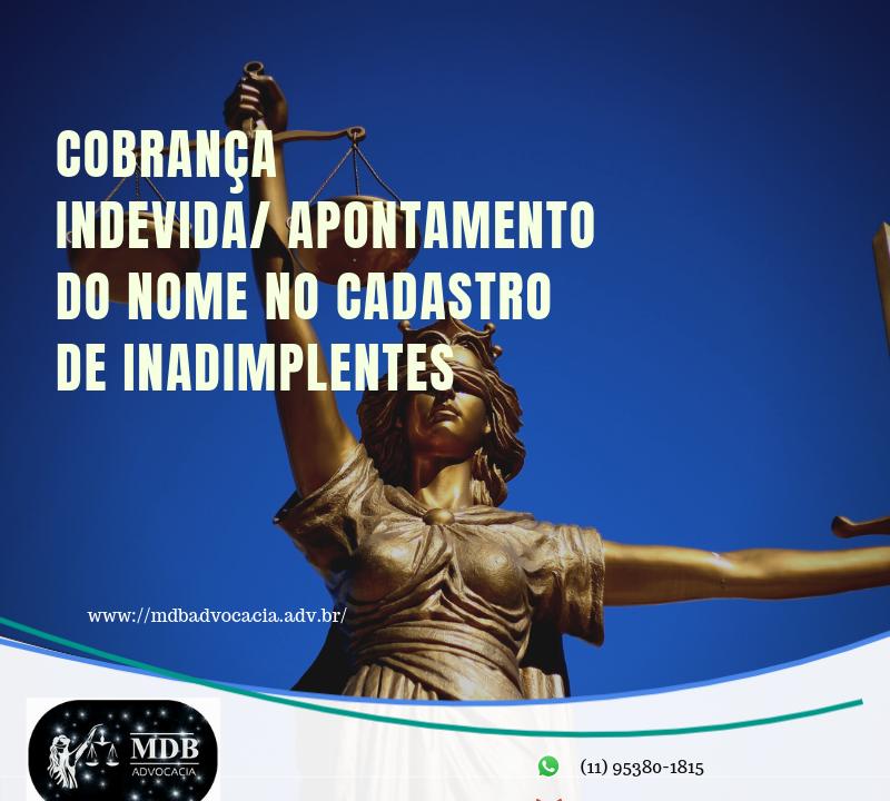 COBRANÇA INDEVIDA/ APONTAMENTO DO NOME NO CADASTRO DE INADIMPLENTES 3